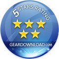 5 Star Rating from GearDownload.com !